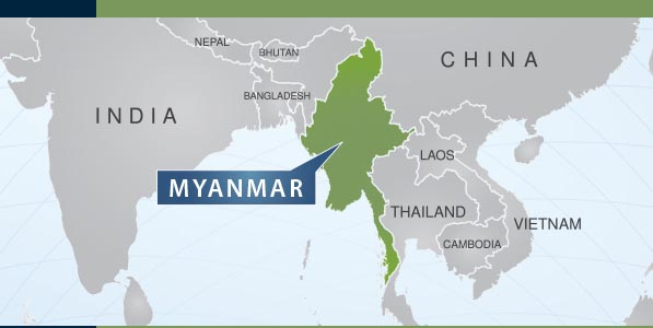 Burma Location Map - Burma in world map